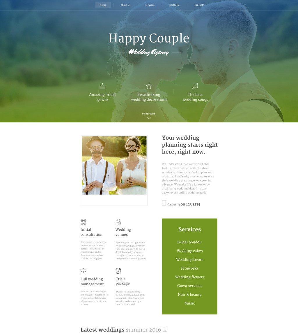 Happy Couple Website Template