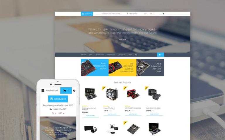 Hardware OpenCart Template New Screenshots BIG