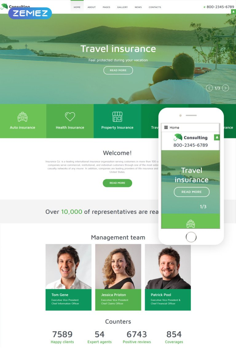 InsuranceCo - Consulting & Finance Joomla Template New Screenshots BIG