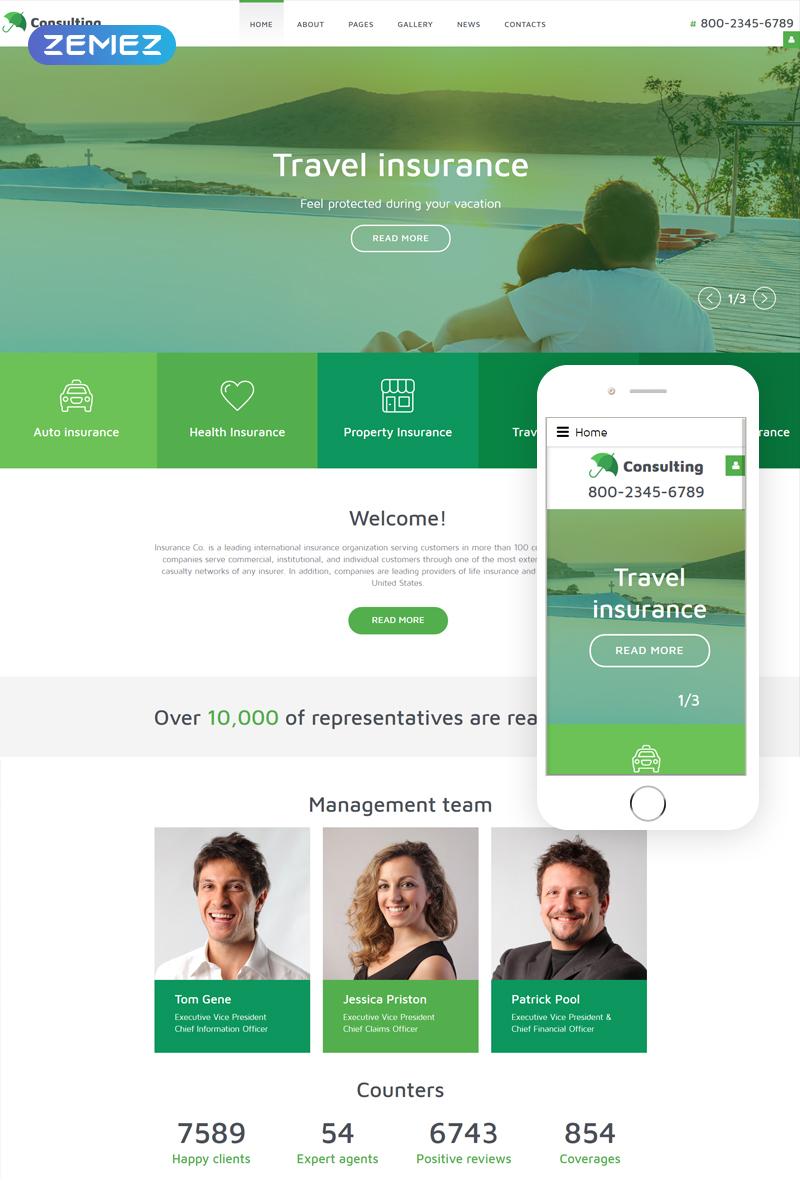 InsuranceCo - Consulting & Finance Joomla Template - screenshot