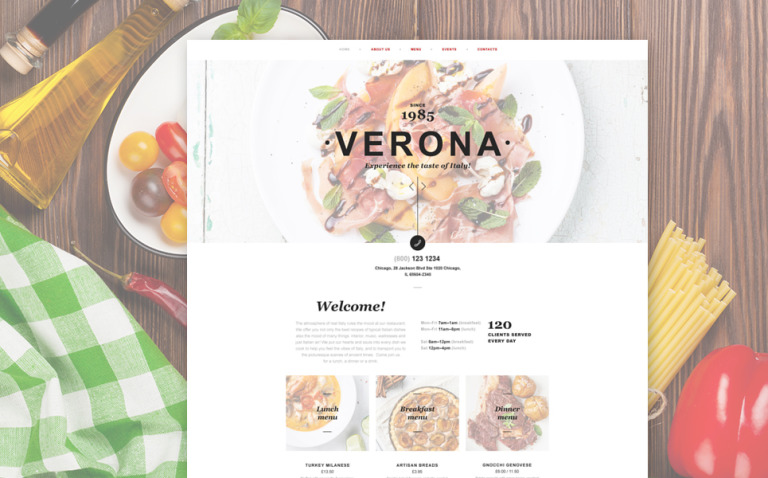 Italian Restaurant Muse Template New Screenshots BIG
