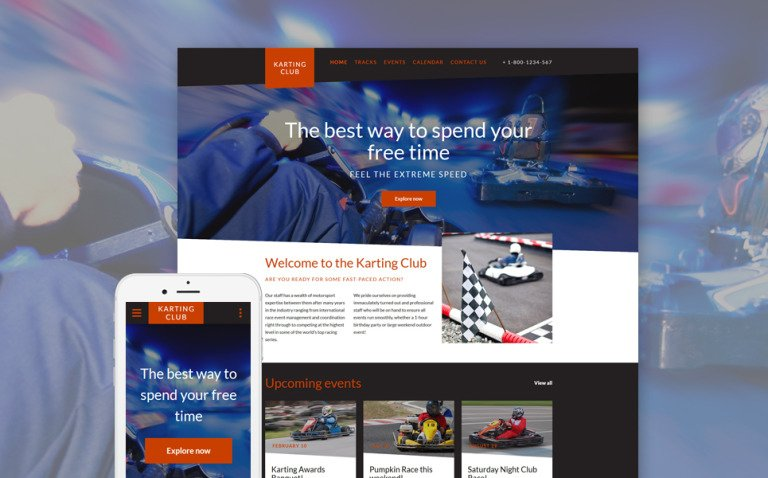 Karting Club - Karting Club Responsive Website Template New Screenshots BIG