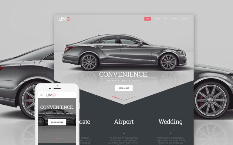 Limo - Transportation & Transfer Services Website Template New Screenshots BIG