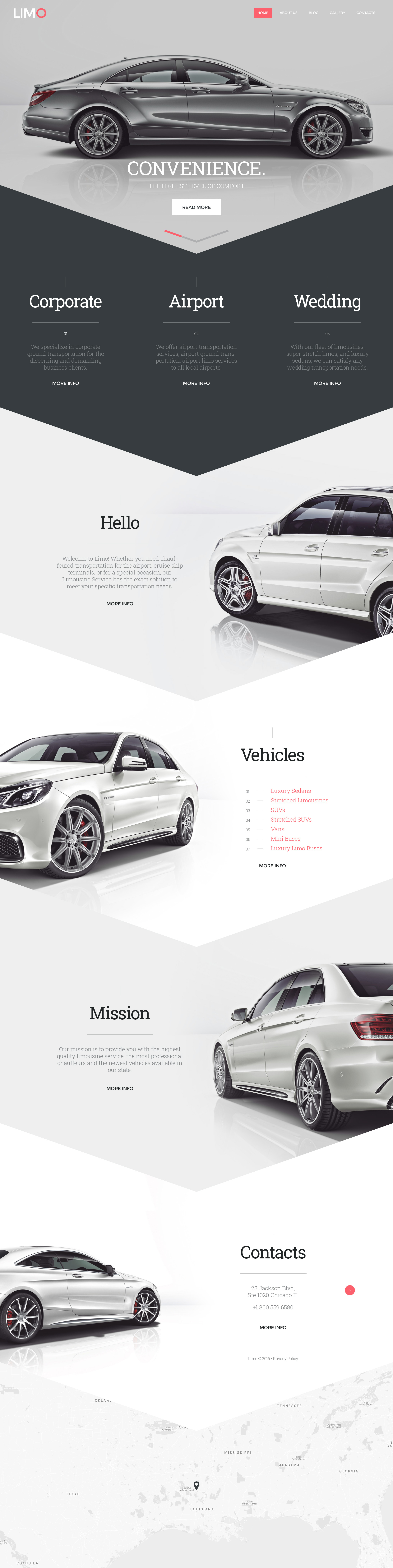 Limo - Transportation & Transfer Services Website Template