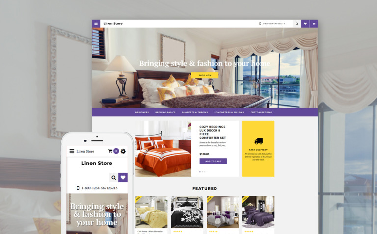 Linen Store OpenCart Template New Screenshots BIG