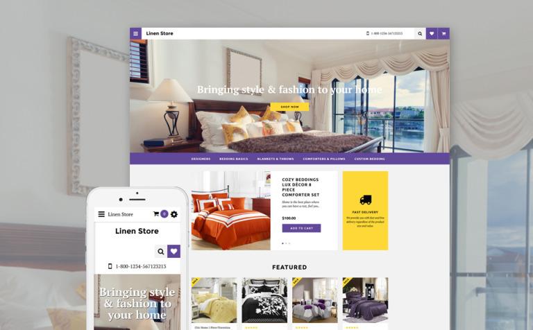 Linen Store OpenCart Template