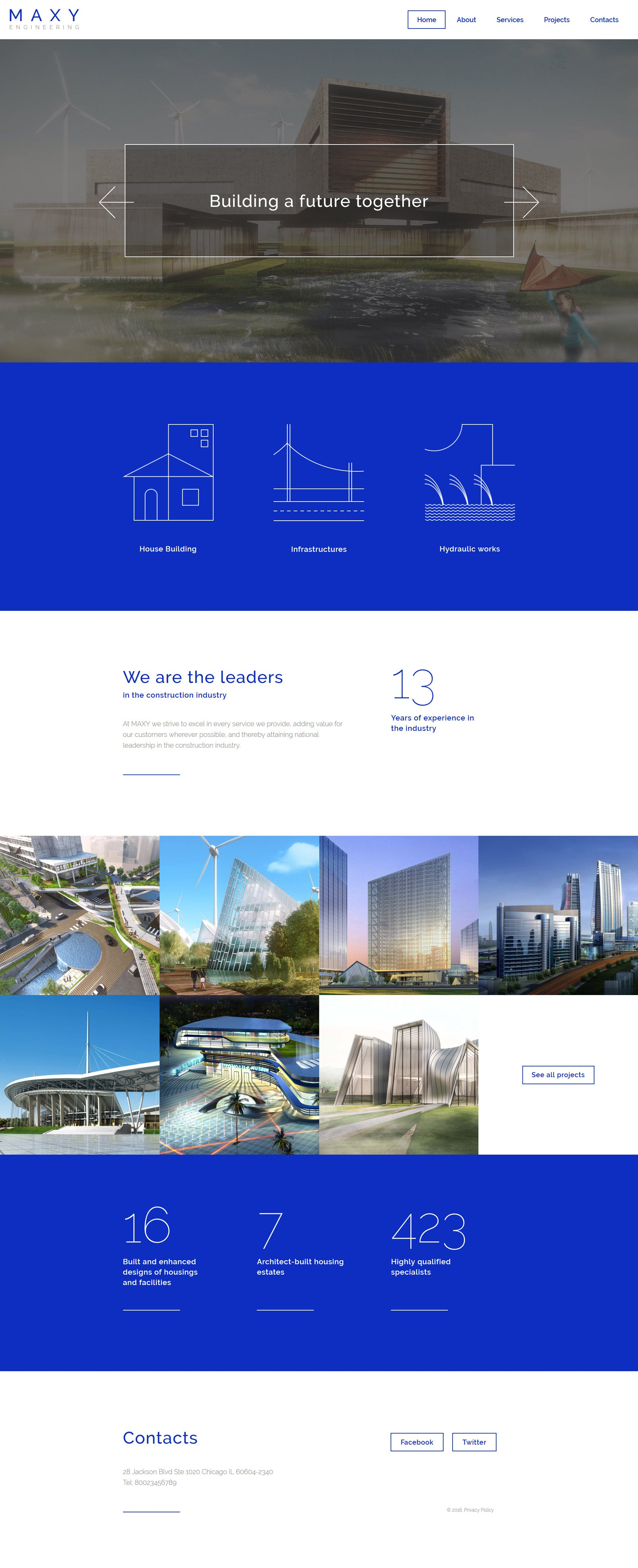 Maxy Website Template - screenshot