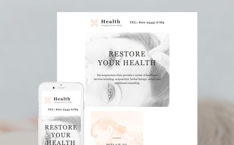 medical responsive newsletter template 58105