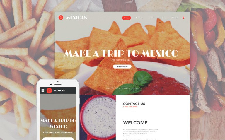 Mexican Website Template New Screenshots BIG