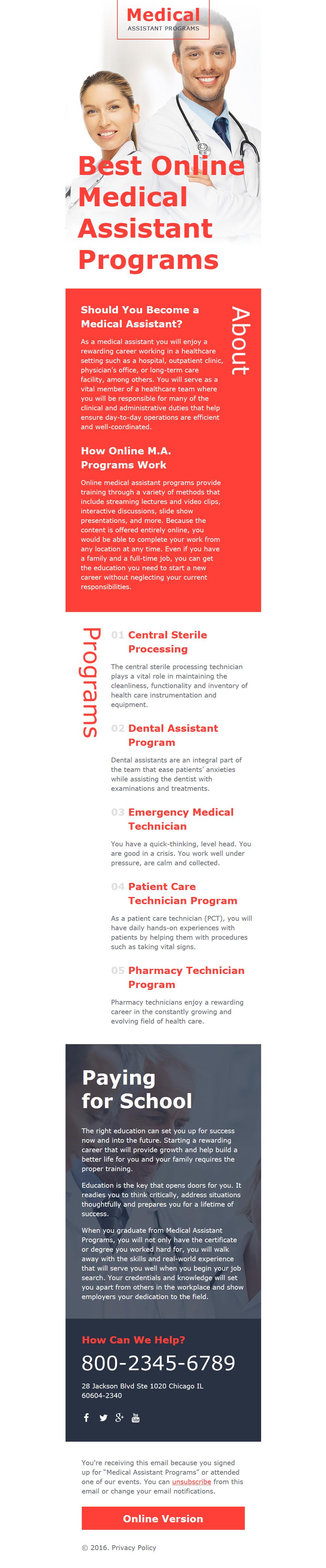 Modello di Newsletter Responsive #58109 per Un Sito di Settore Medico
