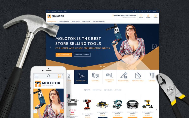 Molotok PrestaShop Theme Big Screenshot