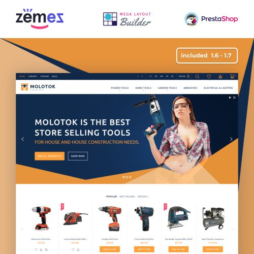 Molotok - PrestaShop Template based on Bootstrap