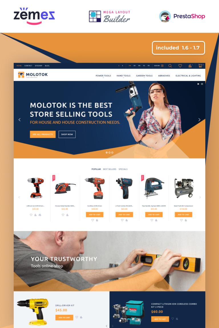 Molotok PrestaShop Theme Big Screenshot