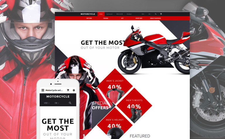 Motorcycle OpenCart Template