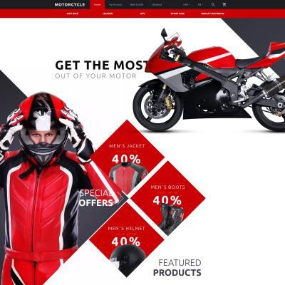 motocross opencart template