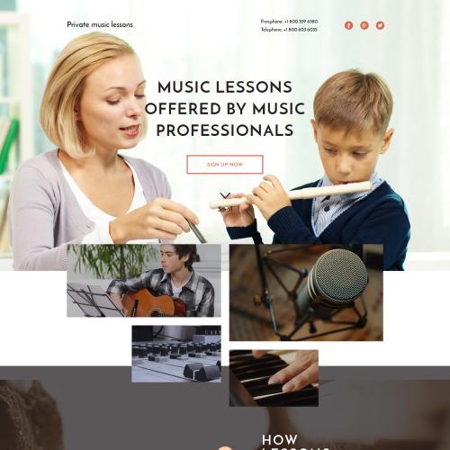 Music School - Responsive Landing Page Template