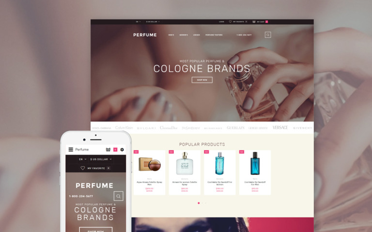 Perfume Shop OpenCart Template New Screenshots BIG