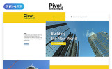 Pivot - Construction Company Clean HTML Templates de Landing Page  №58128