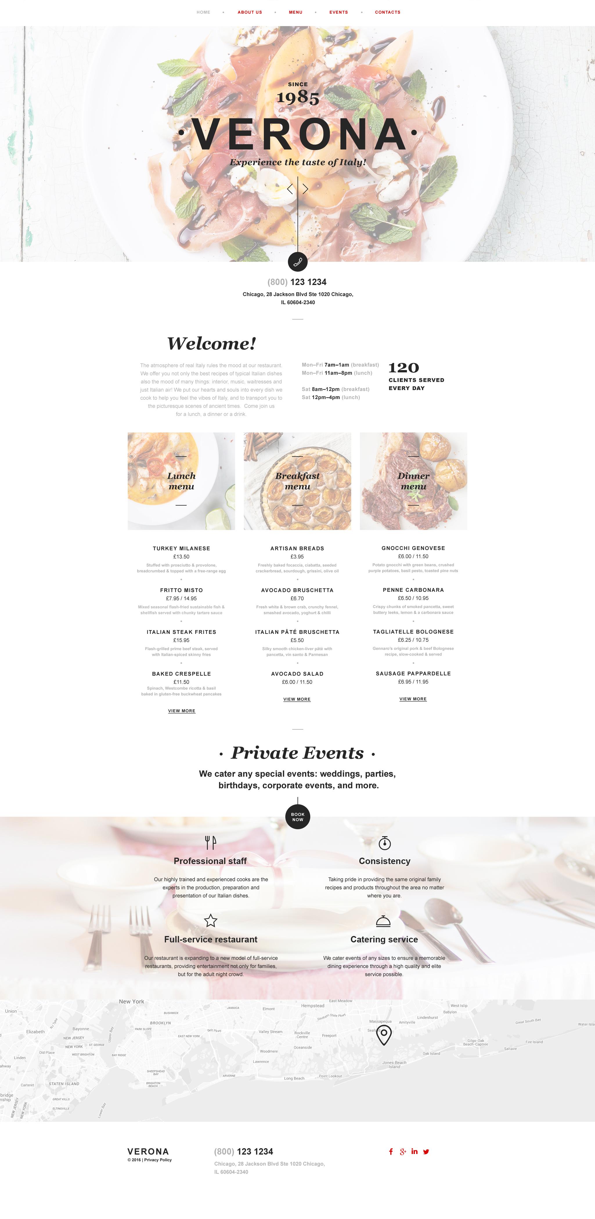 Plantilla Muse #58145 para Sitio de Restaurantes italianos