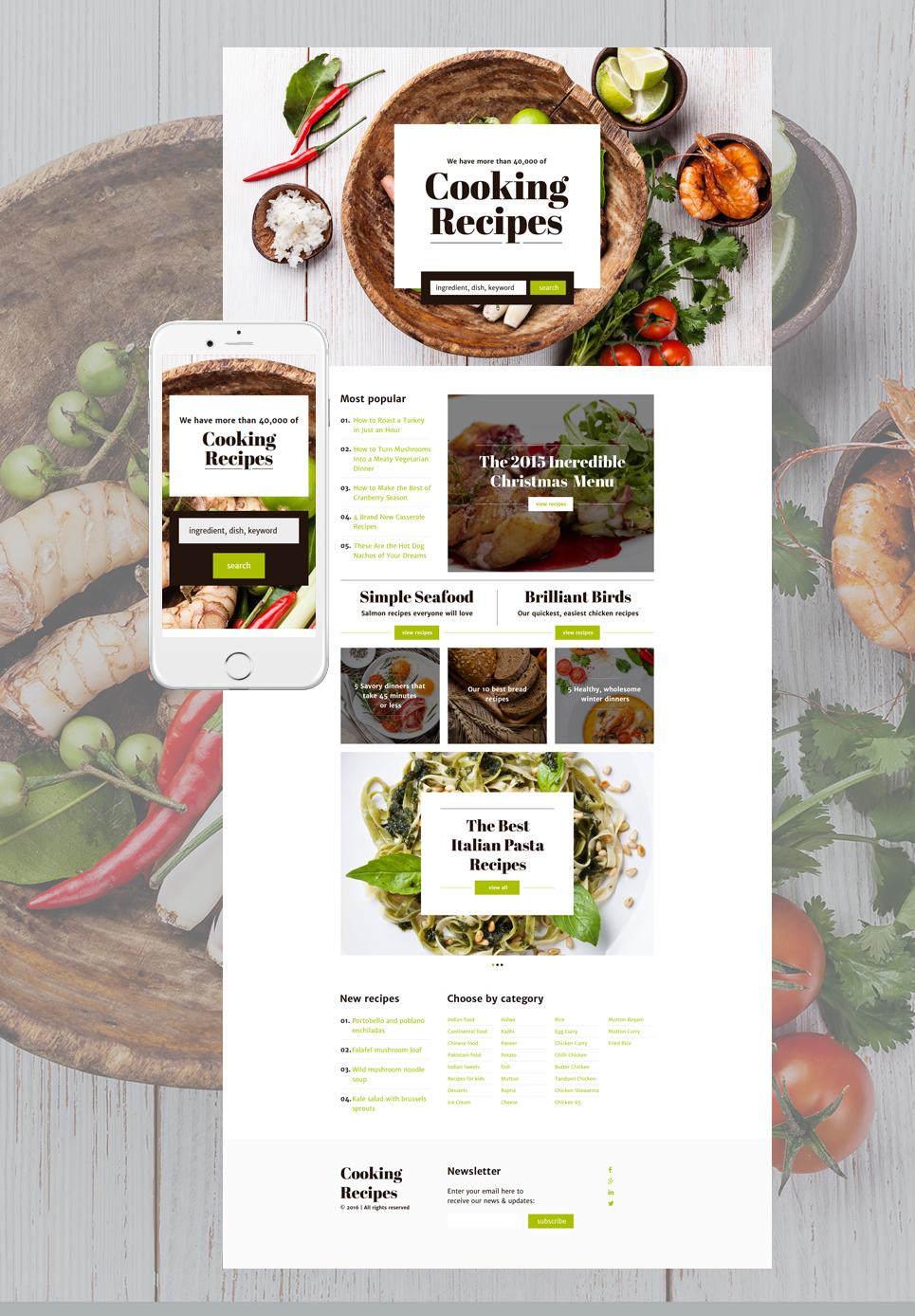 Plantilla para Página de Aterrizaje #58167 para Sitio de Cocina