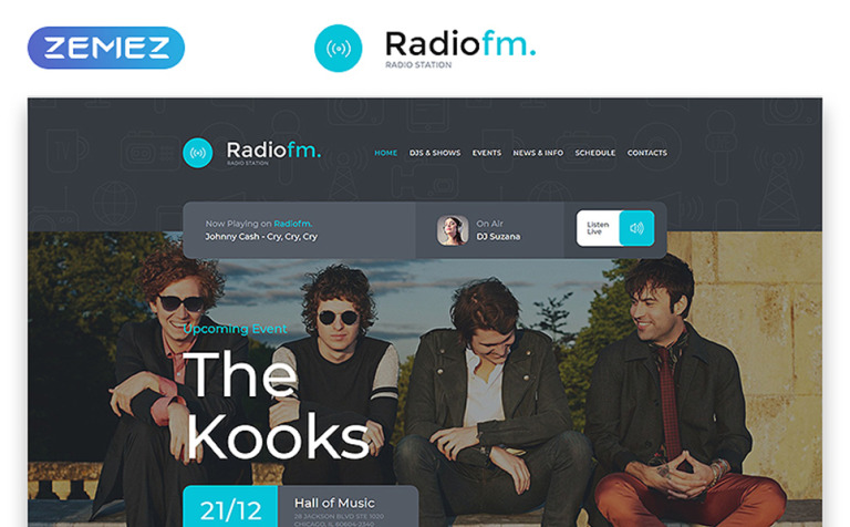 RadioFM Website Template