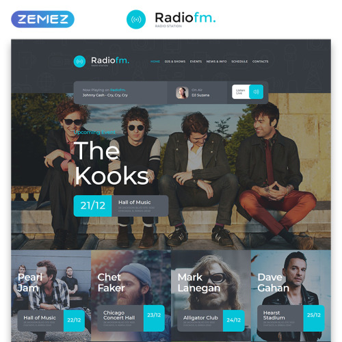 RadioFM - Responsive Website Template