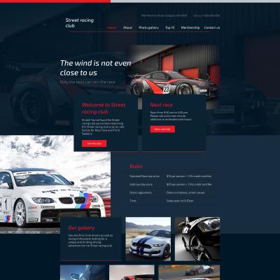 Responsive Website Vorlage für Automobilclub
