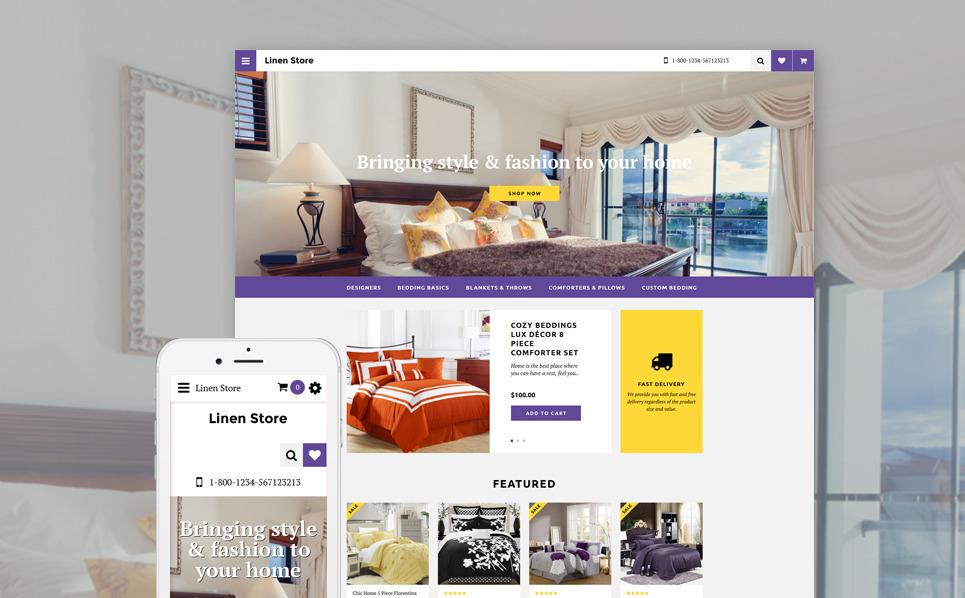 Responsywny szablon OpenCart Sklep pościeli #58189 New Screenshots BIG