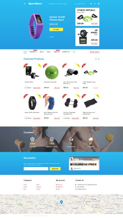 Sports Store Responsive Shopify Motiv