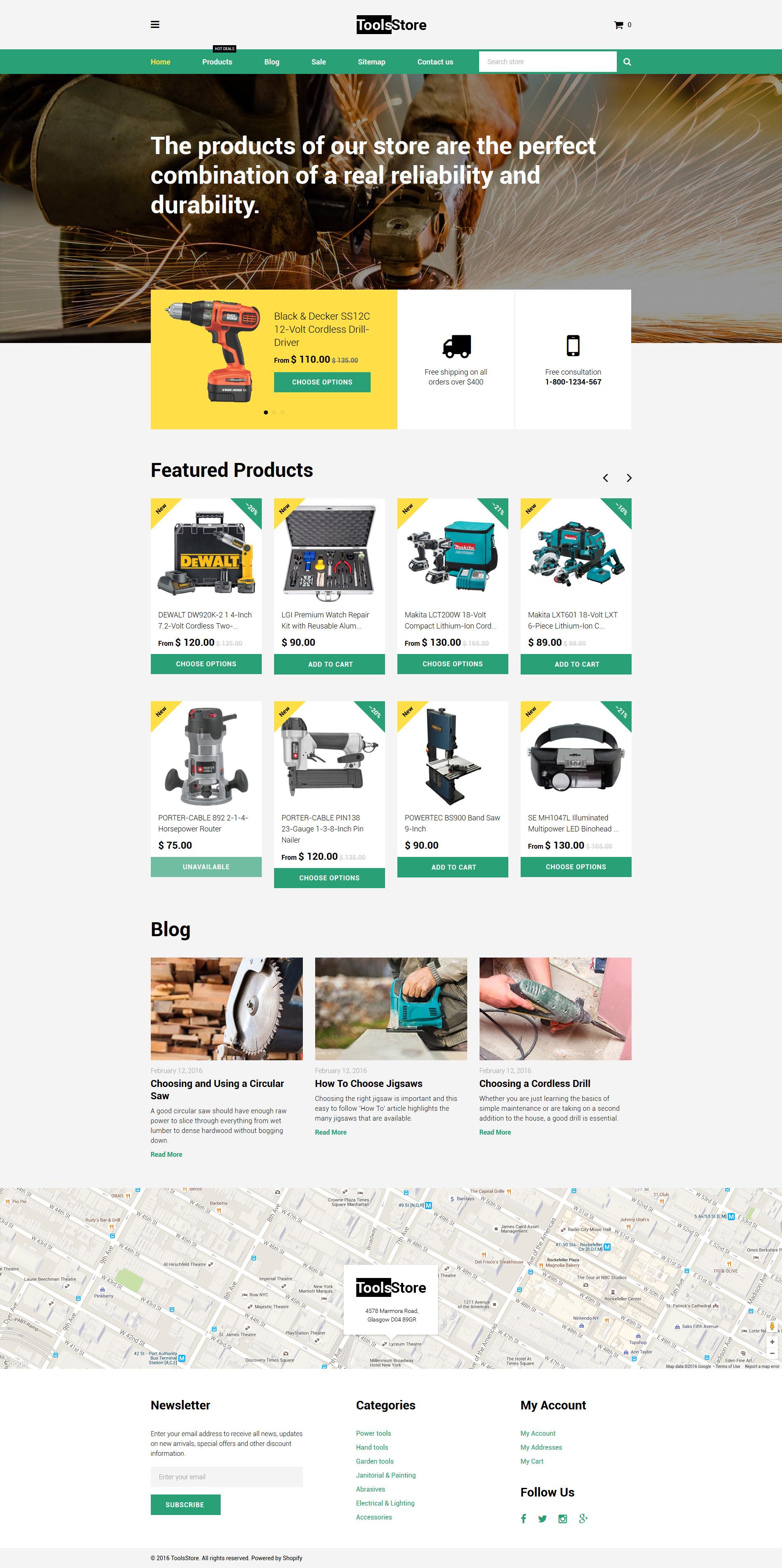 """Responzivní Shopify motiv """"ToolsStore"""" #58161"""