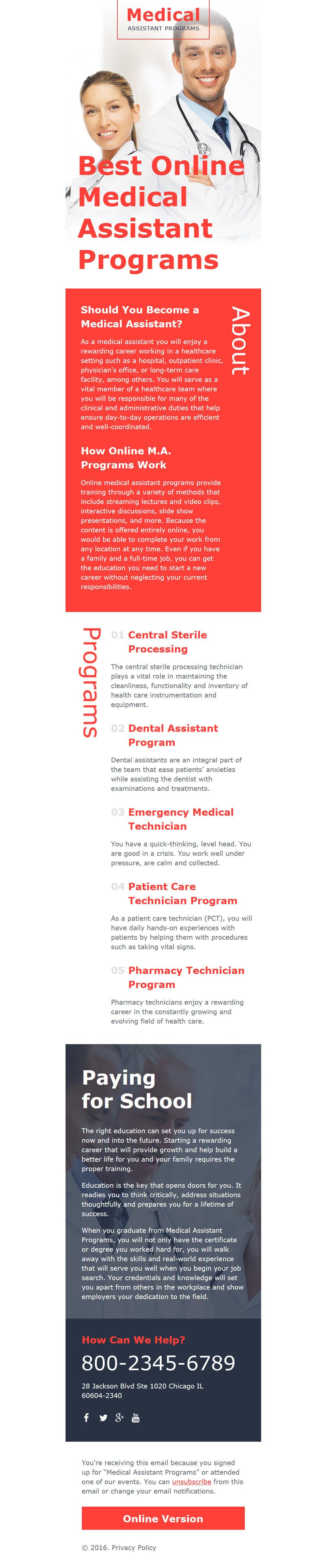 Reszponzív Egészségügy Hírlevél sablon 58109