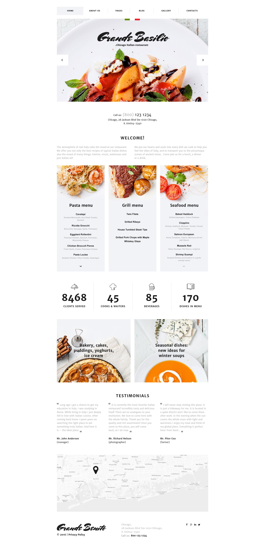 Reszponzív Kávézó és étterem Joomla sablon 58199 - képernyőkép