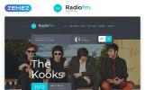 Reszponzív RadioFM Weboldal sablon