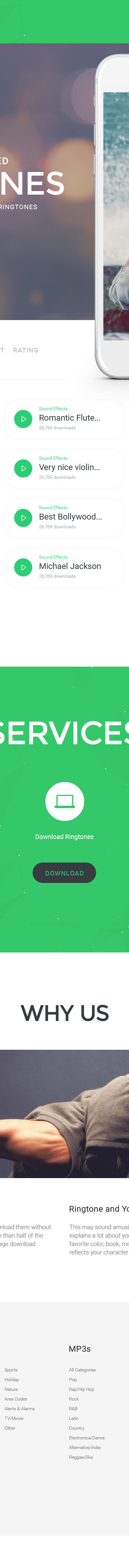 Ringtones Portal Website Template