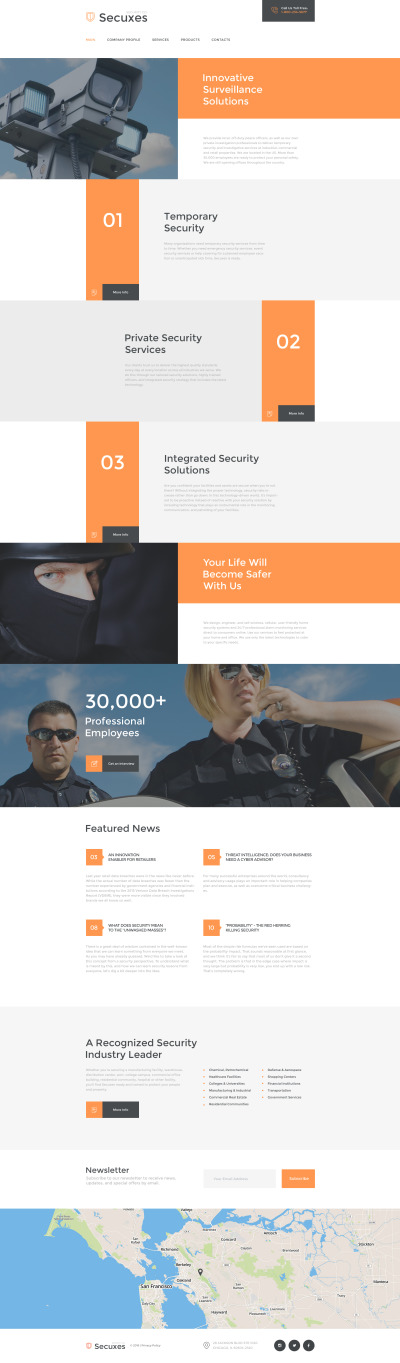Secuxes Website Template #58133