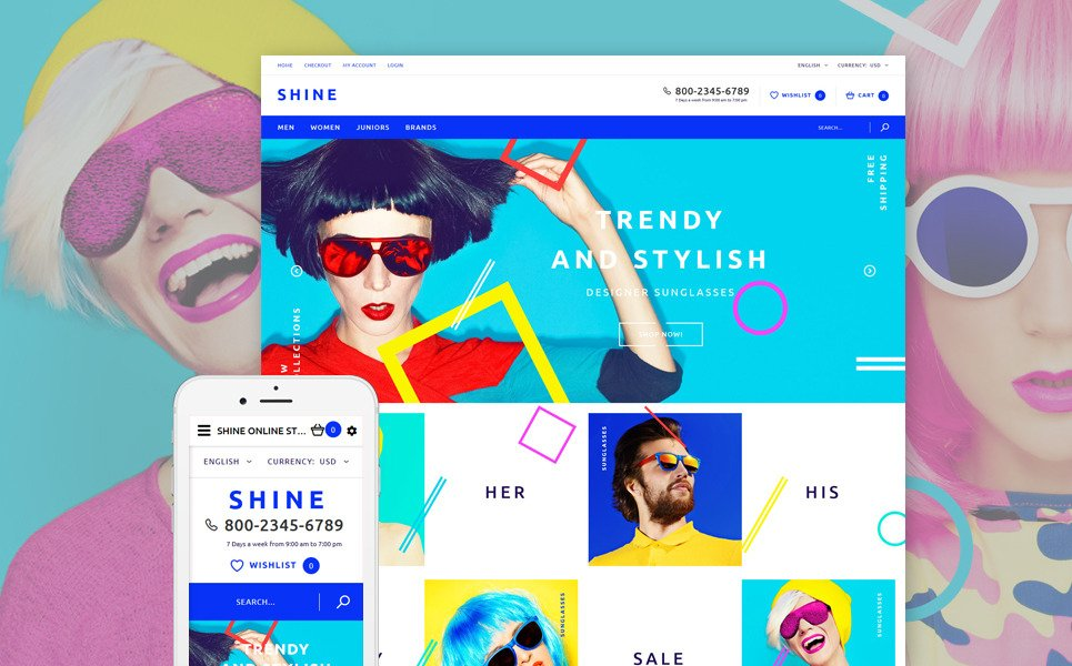 Shine OpenCart Template New Screenshots BIG