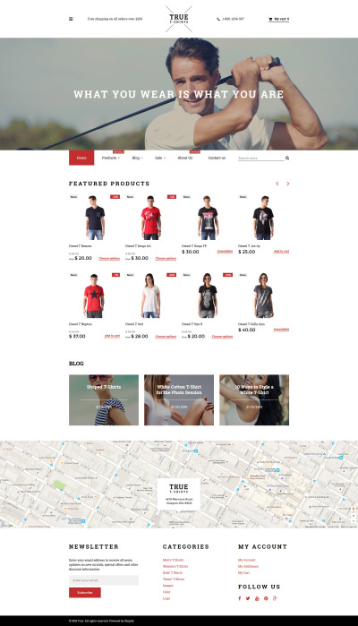 Responsives Shopify Theme für T-Shirt Shop