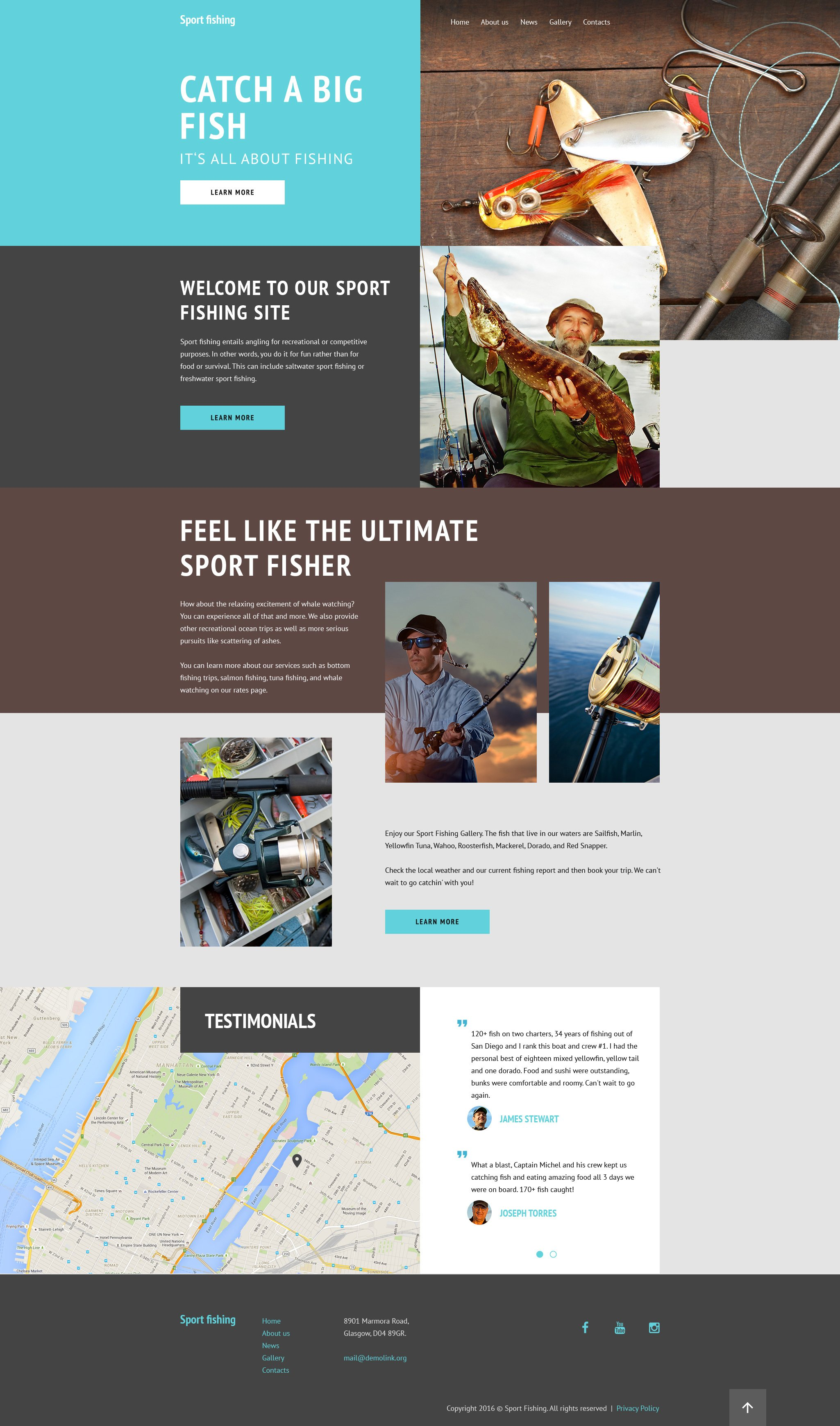 Sport Fishing Website Template