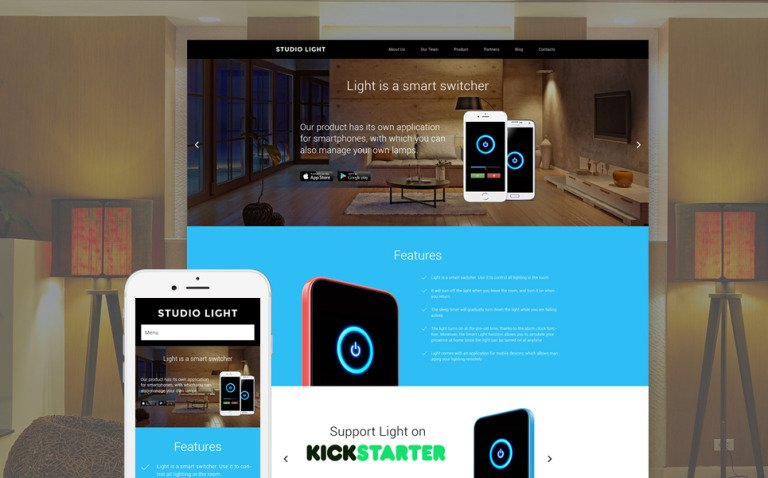 Studio Light WordPress Theme New Screenshots BIG