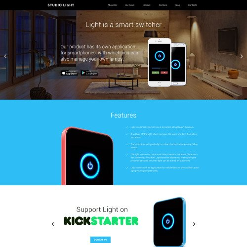 Studio Light - WordPress Template based on Bootstrap