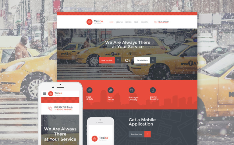 Taxico Website Template New Screenshots BIG
