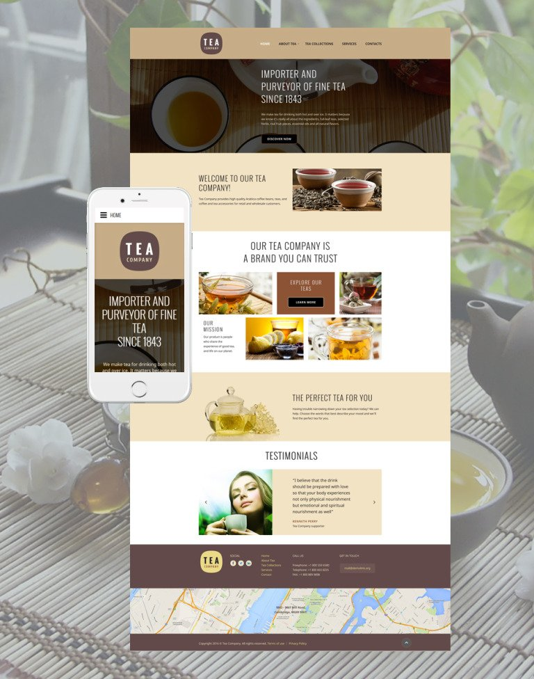 Tea Company Website Template New Screenshots BIG