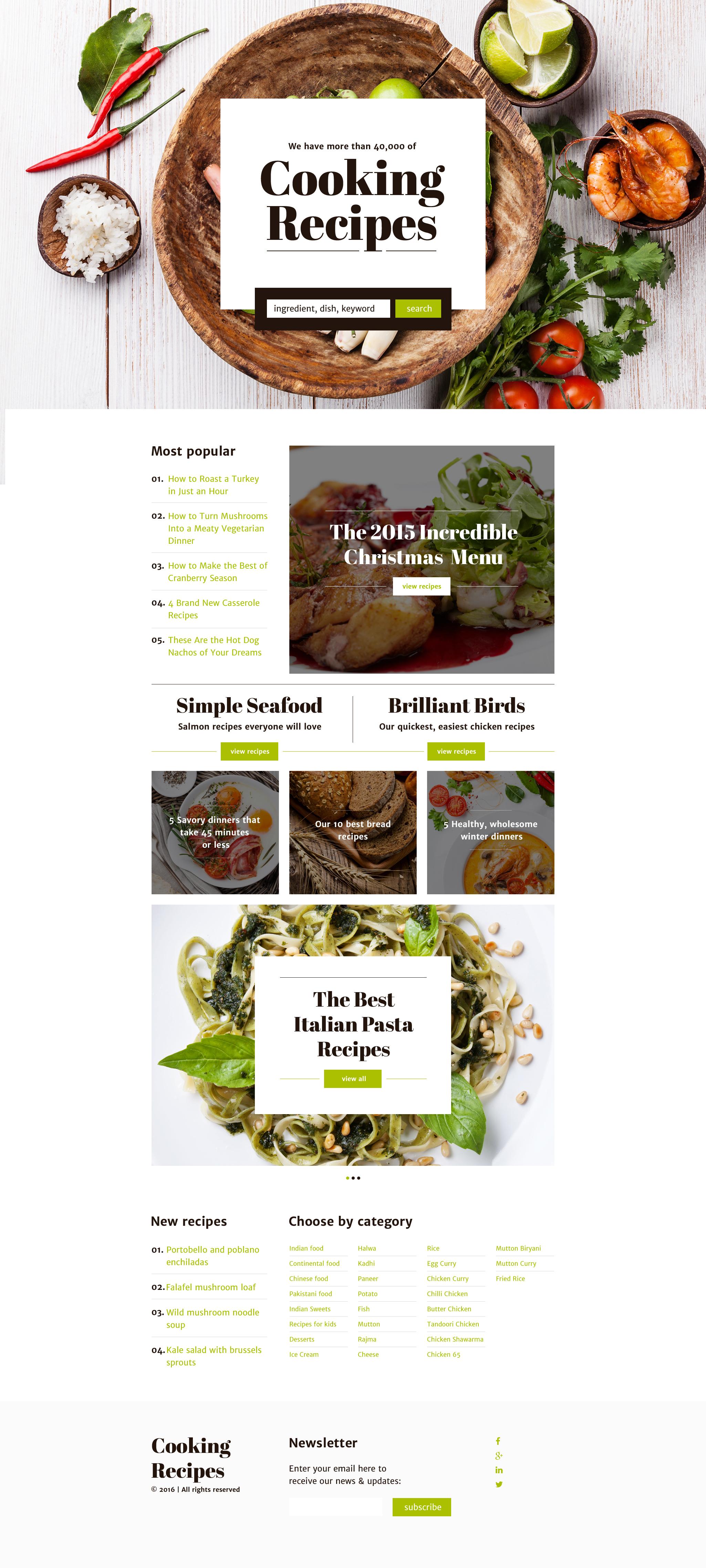 tema di landing page responsive 58167 per un sito di cucina