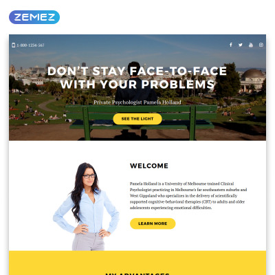 Family Responsive Template Di Landing Page