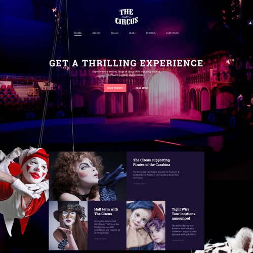 The Circus - Joomla! Template based on Bootstrap