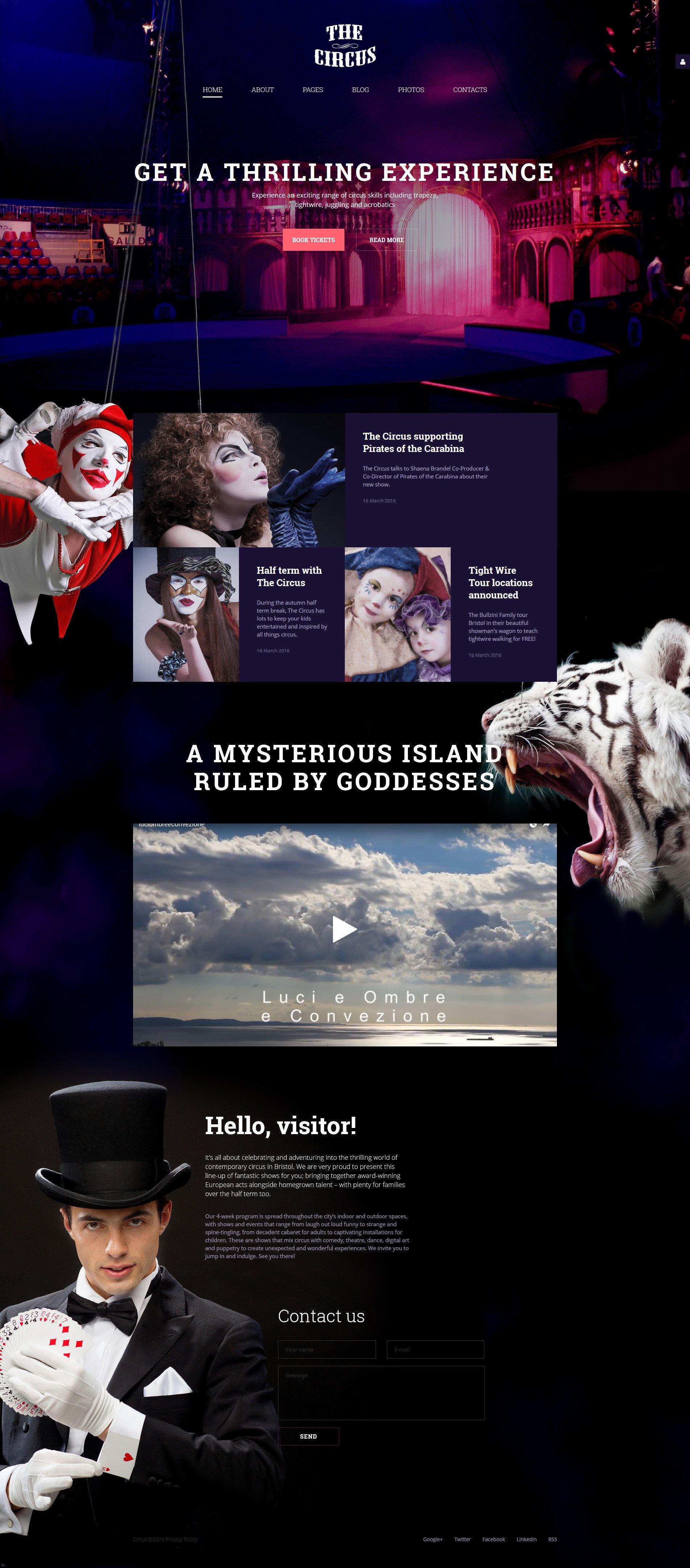 """The Circus"" Responsive Joomla Template №58147"