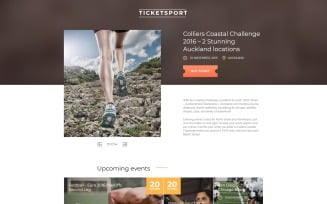 Tickets Website Responsive Landing Page Template
