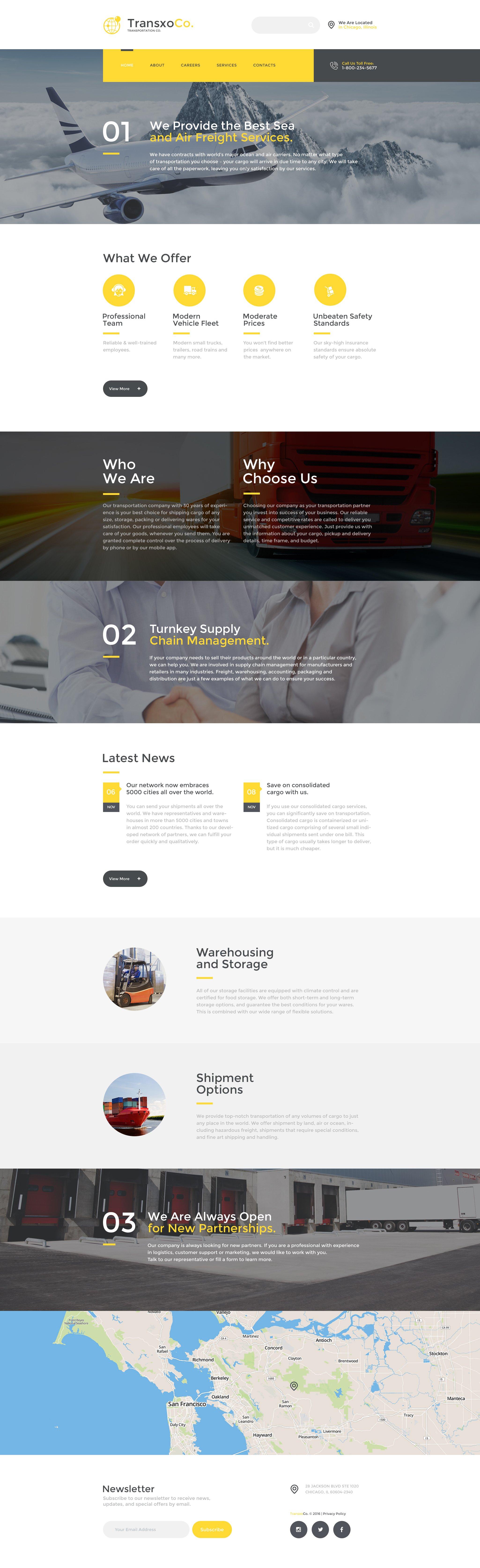 TransxoCo. Website Template - screenshot