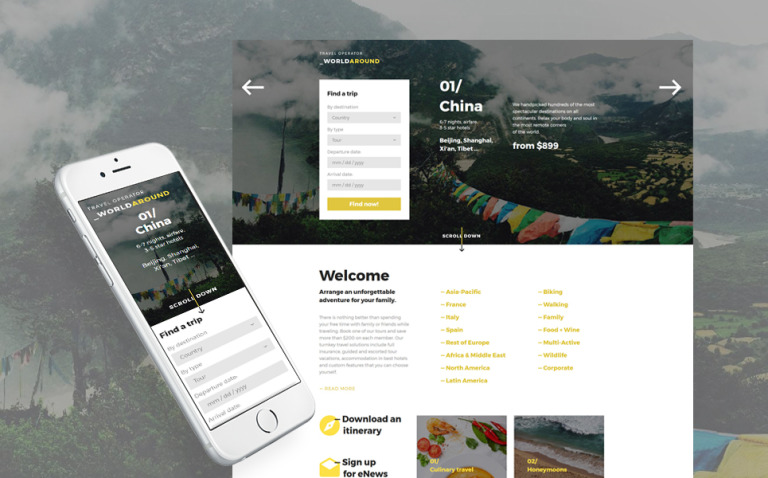 Travel Agency Responsive Landing Page Template New Screenshots BIG