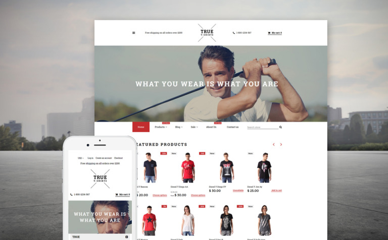 TShirt Shop Shopify Theme - Shopify design templates